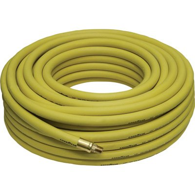 Goodyear Rubber Air Hose - 3/8in. x 100ft., 300 PSI, Model# (Goodyear 100ft Air Hose)
