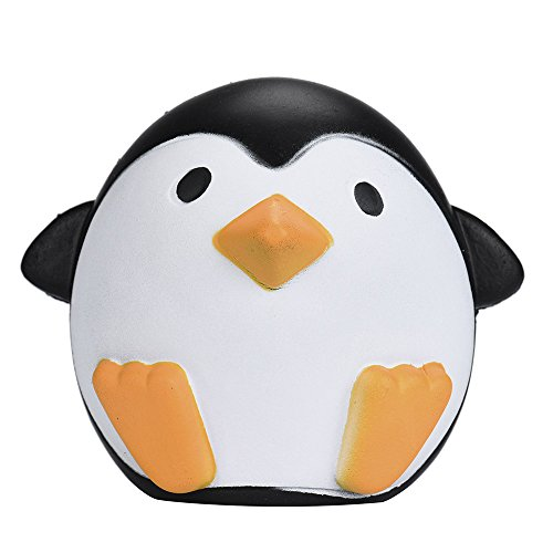 - 2019 Penguin Squishies Jumbo,Cute Penguins Squishy Slow Rising Cream Scented Kawaii Decompression Squishy Toys Soft for Stress Relief (Black)