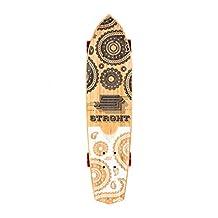 "STRGHT BANDIT-Bamboo Diamond Tail Cruiser 28.5"" x 7.0"" Skateboard black/white-COMPLETE-"