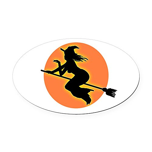 CafePress - Witch.png Oval Car Magnet - Oval Car Magnet, Euro Oval Magnetic Bumper Sticker]()