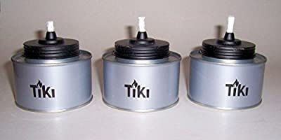 """ABC Products"" - Set Of 3 - All Metal Tiki Canister - For Citronella Oil - Table top - (Gray Finish - Outdoor Use Only)"