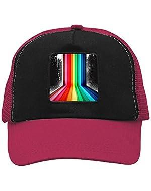 Unisex Rainbow Road Adjustable Classic Hiphop Hat Baseball Cap Snapback Dad Hat