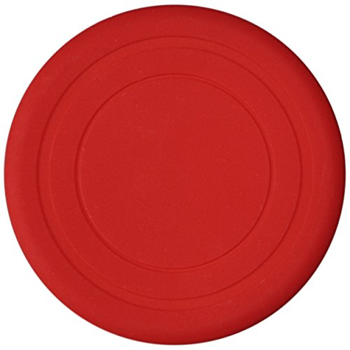 1, 3, 5 or 15 Soft dog frisbee disc, 1 unit, color Red, diameter approx. 7 inch in different colors, made of soft silicone