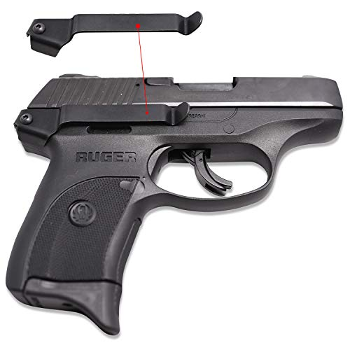 Clipdraw Concealed Gun Belt Clip for Ruger LC9 and LC9S/PRO Black (LC9S/PRO) ()