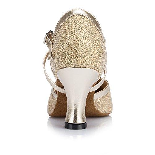 7cm bal Salle de Heel femme Miyoopark Gold O8XEEq