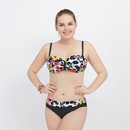 SHISHANG La Sra bikini traje de dos juegos de ropa era delgada atractiva grande de alta elasticidad del medio ambiente Black