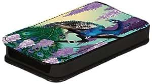 Diabloskinz L0026-0003-0029 - Funda de piel para Apple iPhone 4 y 4S, diseño de pavo real