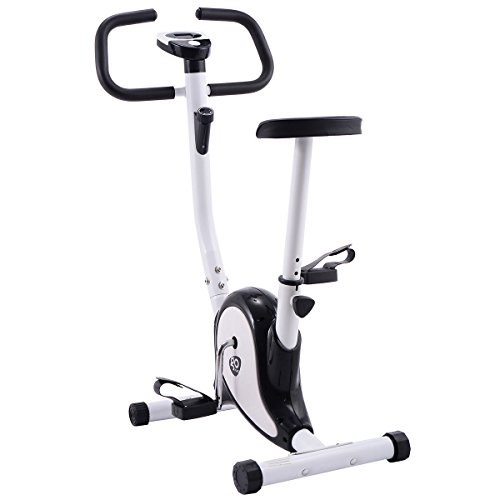 Goplus Upright Exercise Bike Magnetic Stationary Cycling Fitness Cardio Aerobic Equipment