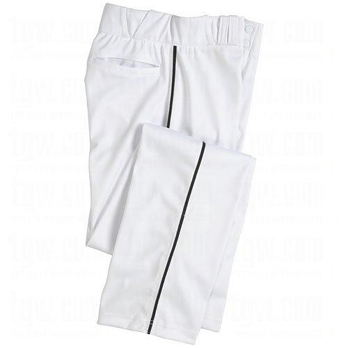 Pro Plus Pant - Champro Men's Sports Pro-Plus Open Bottom Pants with Piping, White/Black, Medium