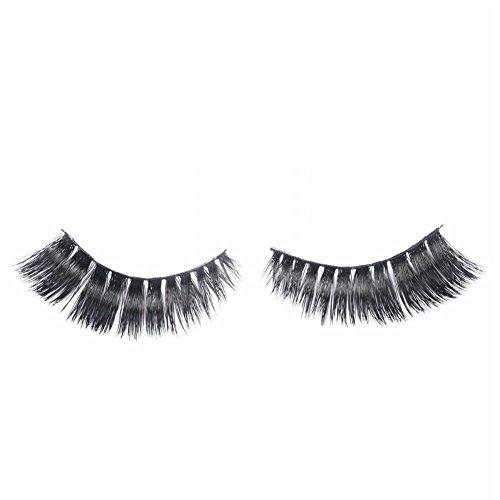 Miss Diva Fake Eyelashes 3D-09 Mink Fur False Eyelashes 2 Pairs Easy Eye Lashes For Makeup Thick Cross Style