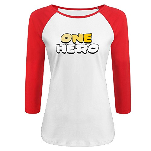 Price comparison product image Beautiful Women One Hero Gradient Color Graphic-Print 3 / 4 Sleeve Raglan Shirt