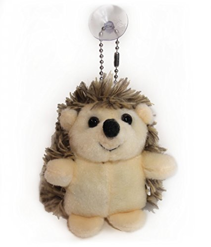 Lucore Happy Hedgehog Plush Stuffed Animal Keychain - Hanging Toy Doll, Lucky Charm & Ornament by Lucore Home