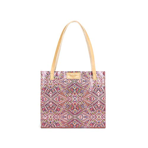Bolso Branni Milano piel Rosa estampada Shopper de Azteca FfZfq7w