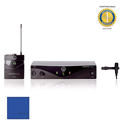 AKG Perception Wireless Presenter Set Frequency A / 530-560MHz with Microfiber and 1 Year Everything Music Extended Warranty