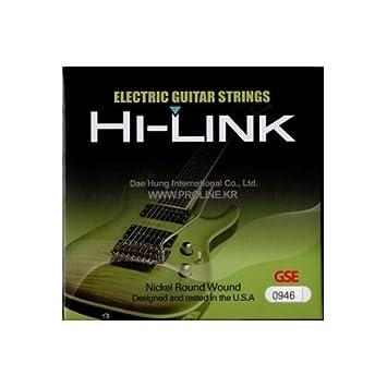 Traje de cuerdas Hi Link para guitarra eléctrica 09/46 09 46 ...