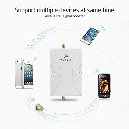 ANNTLENT 2G 3G Cell Phone Signal Booster 850MHz Mobile Repeater Amplifier Kit 2 Antennas (Whip+Omni Antenna) by ANNTLENT (Image #2)