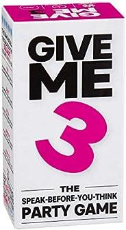 GIVE ME 3 Hablar antes de que pienses partido – Nuevo inicio de conversación, ritmo rápido e hilarante, 440 ca