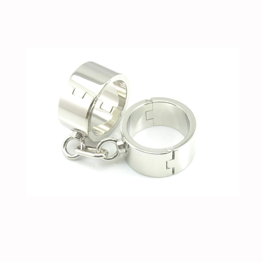 SLH Women's Stainless Steel Weights Thickening Fun Handcuffs Metal Binding Alternative Toys ādult Products