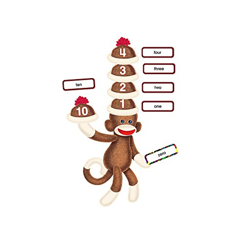Trend Enterprises Sock Monkeys Numbers 0-120 Bulletin Board Set (T-8298) Photo #2