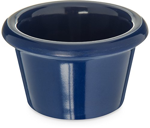 Carlisle S27560 Melamine Smooth Ramekin, 1.5 oz. Capacity, Cobalt Blue (Case of 48))