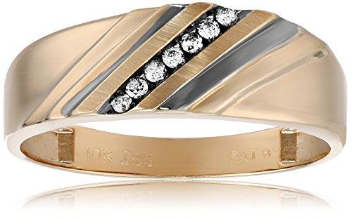 10k Yellow Gold Diamond Wedding Band