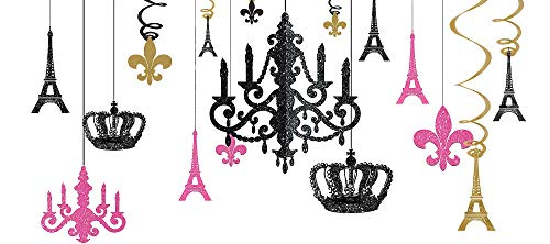 (Amscan A Day in Paris Chandelier Decorating Kit, One Size, Multicolor,)