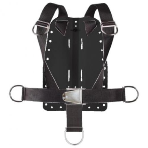 Storm Accessories Aluminum Back Plate with Harness & Crotch Strap for Technical Scuba Divers