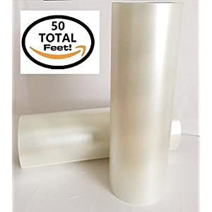 """Frisco Craft 4336883150 Transfer Roll 12"""" x 50 Feet Clear Lay Flat 