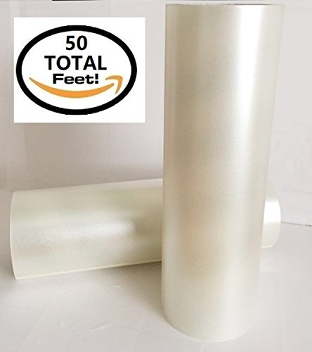 Frisco Craft Transfer Tape Roll 12' x 50 Feet Clear Lay Flat | Application Tape Perfect for Cricut Cameo Self Adhesive Vinyl for Signs Stickers Decals Walls Doors Windows