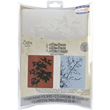 Sizzix 2-Pack Texture Fades Embossing Folder for Scrapbooking, Brush Poinsettias and Winter Berries Set by Tim Holtz