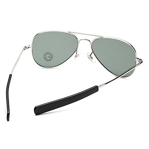 US Pilot Sunglasses Aviator Military Bayonet Temples Wire Spatula Air Force Army Men UV400 (silver, - U.s. Sunglasses Army