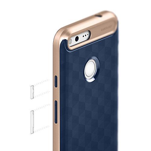 Google Pixel Case, Caseology [Parallax Series] Modern Slim Geometric Design [Navy Blue] [Textured Grip] for Google Pixel 2016