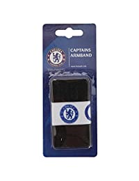 Chelsea FC Official Captains Football Crest Sports Armband (One Size) (Black/White/Navy)