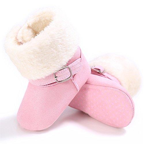 BENHERO Infant Baby Boys Girls Boots Soft Sole Anti-Slip Winter Warm Snow Boot Newborn Crib Shoes
