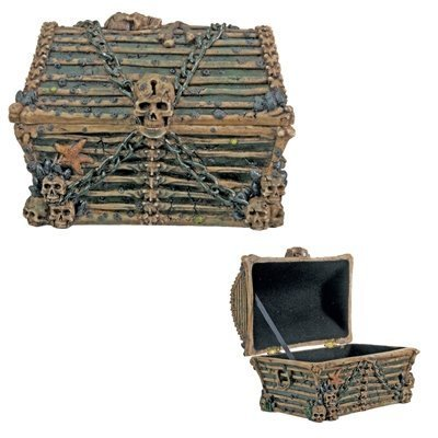Davy Jones Chest  Collectible Pirate Decoration Skeleton Container (Pirate Decoration)