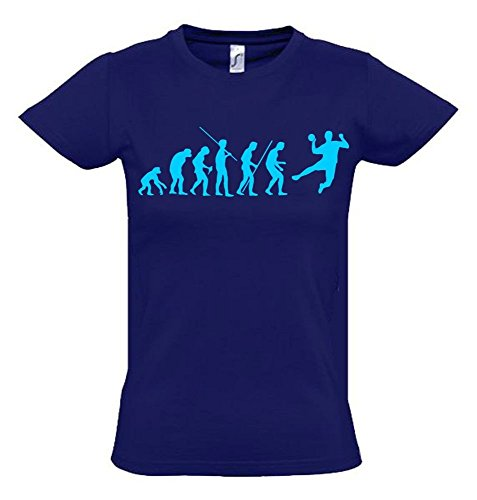 HANDBALL Evolution Kinder T-Shirt navy-sky, Gr.164cm
