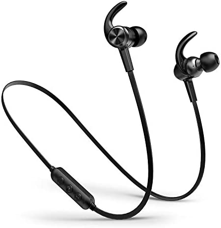 Picun Bluetooth Earphones 10 Hrs Playtime IPX6 Waterproof Magnetic Bluetooth Earbuds CSR Stereo Bluetooth Sports Earphone with HD Noise Reduction Mic in-Ear Wireless Headphones for Gym Workout Black