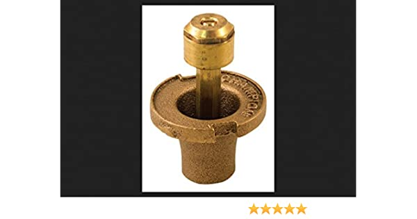 Orbit 54029 Plastic Pop-Up Sprinkler Head with Brass Nozzle In-Ground Irrigation In-Ground Sprinklers Watering