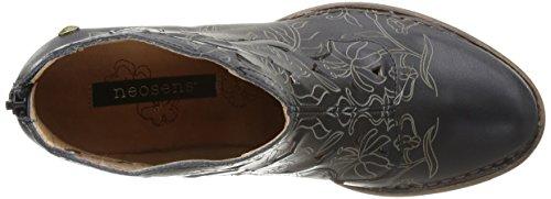 Neosens ROCOCO - botas de caño bajo de cuero mujer negro - Schwarz (EBONY)