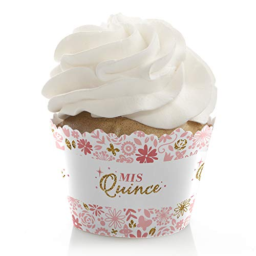 Mis Quince Anos - Quinceanera Sweet 15 Birthday Party Decorations - Party Cupcake Wrappers - Set of 12]()