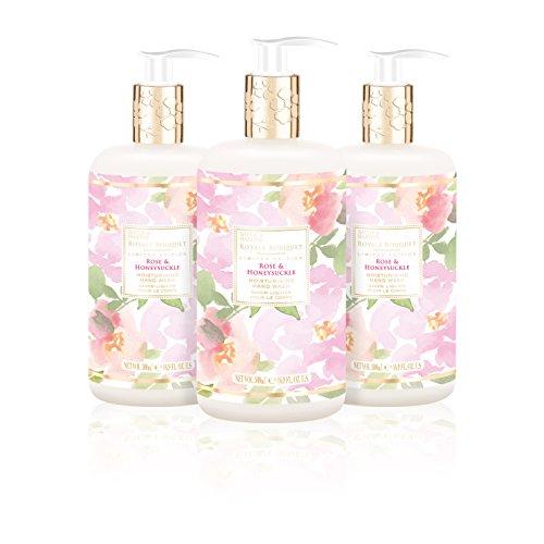 (Baylis & Harding Royale Bouquet Rose & Honeysuckle 500ml Bottle Hand Wash, Pack Of 3, 580 Gram)
