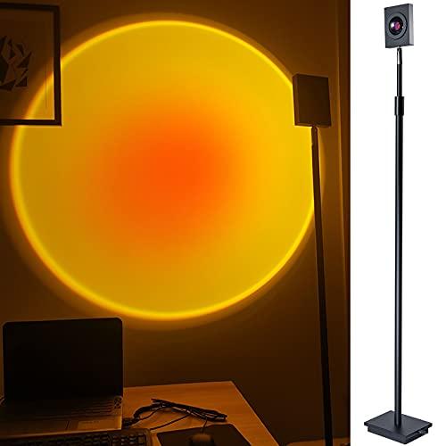 Sunset Projector Floor Lamp, GreenSun Adjustable Sunset Lamp Projection Rotation Rainbow Light 16W LED Floor Lamps for Home Bedroom Decor