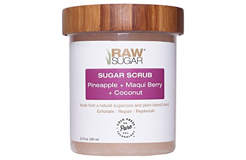 Raw Sugar Coconut, Pineapple & Maqui Berry Sugar Scrub 20 oz