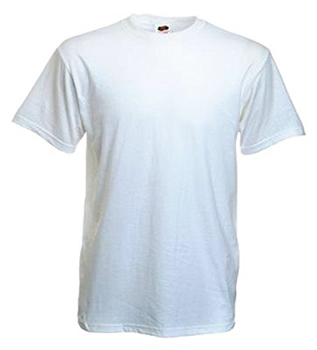 10 Stück Fruit of the Loom Heavy Cotton T-Shirts in Weiss, Grösse M