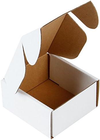 RUSPEPA 10 X 10 X 5 cm Cajas De Cartón Corrugado Perfecto Para El Envío Pequeño, Blanco De Ostra (Paquete De 50): Amazon.es: Oficina y papelería