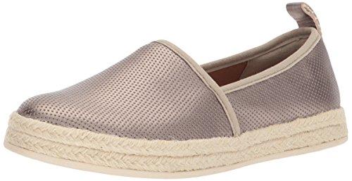 CLARKS Women's Azella Revere Loafer, Pewter Metallic, 8 Medium US - Metallic Suede Sneakers