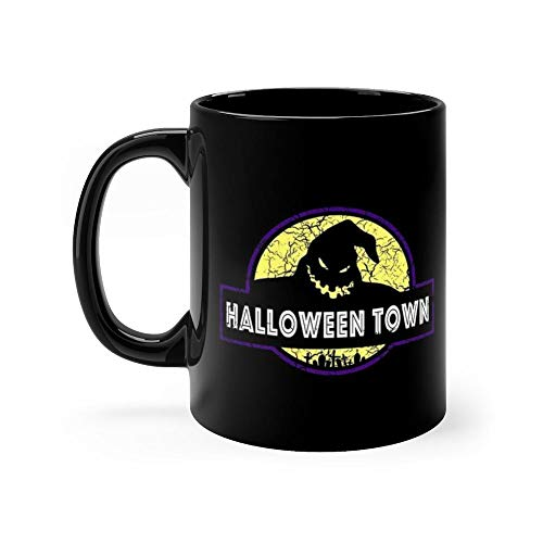 Welcome to Halloween Town Mug Funny Coffee Mug Father's Day, Birthday Gifts For Mom, Dad, Grandpa, Husband From Son, Daughter. Fun Novelty Tea Cups Ceramic 11oz
