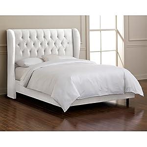 Amazon Com Skyline Furniture Waveland Wingback Queen Bed