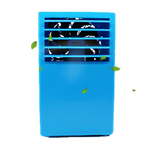 Air Conditioning Fan, Transer Portable Bladeless Mini Air Conditioner Fantastic Table Air Conditioner Fan (Blue)