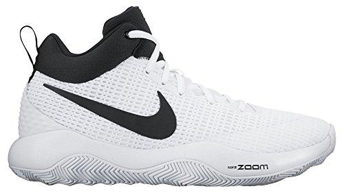 Nike Heren Zoom Rev Tb Basketbaltennisschoenen Wit / Zwart 922048-100